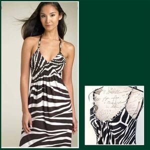 "Summer Dress ""zebra"" print"